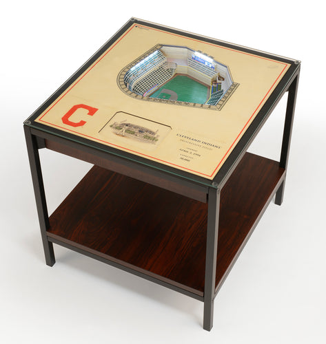 Cleveland Indians 25 Layer Lighted StadiumView End Table