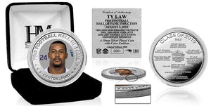 Ty Law New England Patriots Hall of Fame 2019 Silver Color Coin