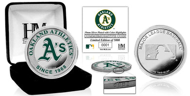 Oakland Athletics Silver Color Coin