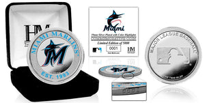Miami Marlins Silver Color Coin
