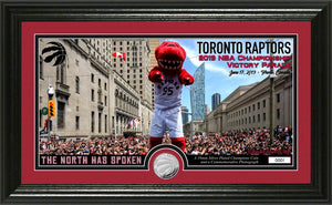 Toronto Raptors 2019 NBA Finals Champions Parade Pano Silver Coin Photo Mint