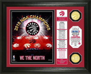 Toronto Raptors 2019 NBA Champions Banner Bronze Coin Photo Mint, we are the north