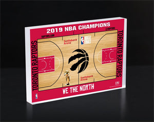 Toronto Raptors 2019 NBA Champions We The North 3D Acrylic BlocKart