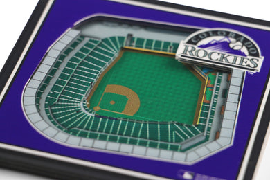 Colorado Rockies 3D StadiumViews Coaster Set