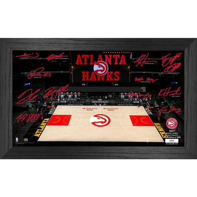 Atlanta Hawks 2021 Signature Court Photo