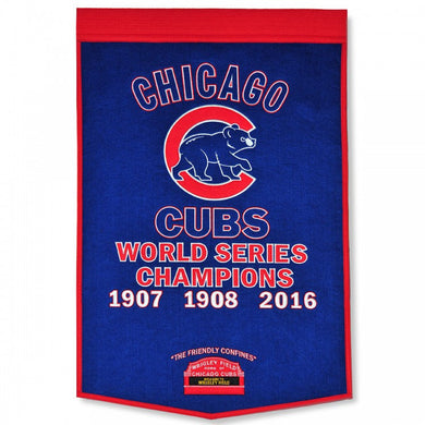 chicago cubs world series champions wool dynasty banners