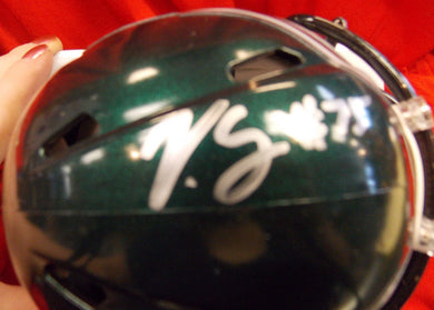 Vinny Curry Philadelphia Eagles Signed Mini Football Helmet
