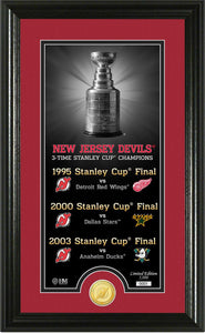 "New Jersey Devils ""Legacy"" Supreme Bronze Coin Panoramic Photo Mint"