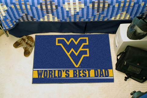 wvu football, wvu basketball, wvu door mat, wvu worlds best dad mat