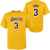 Anthony Davis Los Angeles Lakers #3 Lakers Gold Youth Player Name & Number Shirt
