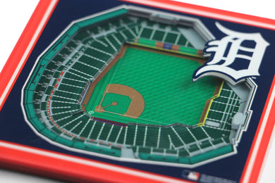 Detroit Tigers 3D StadiumViews Coaster Set