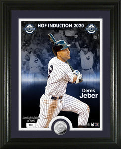 Derek Jeter New York Yankees 2020 HOF Induction Silver Coin Photo Mint