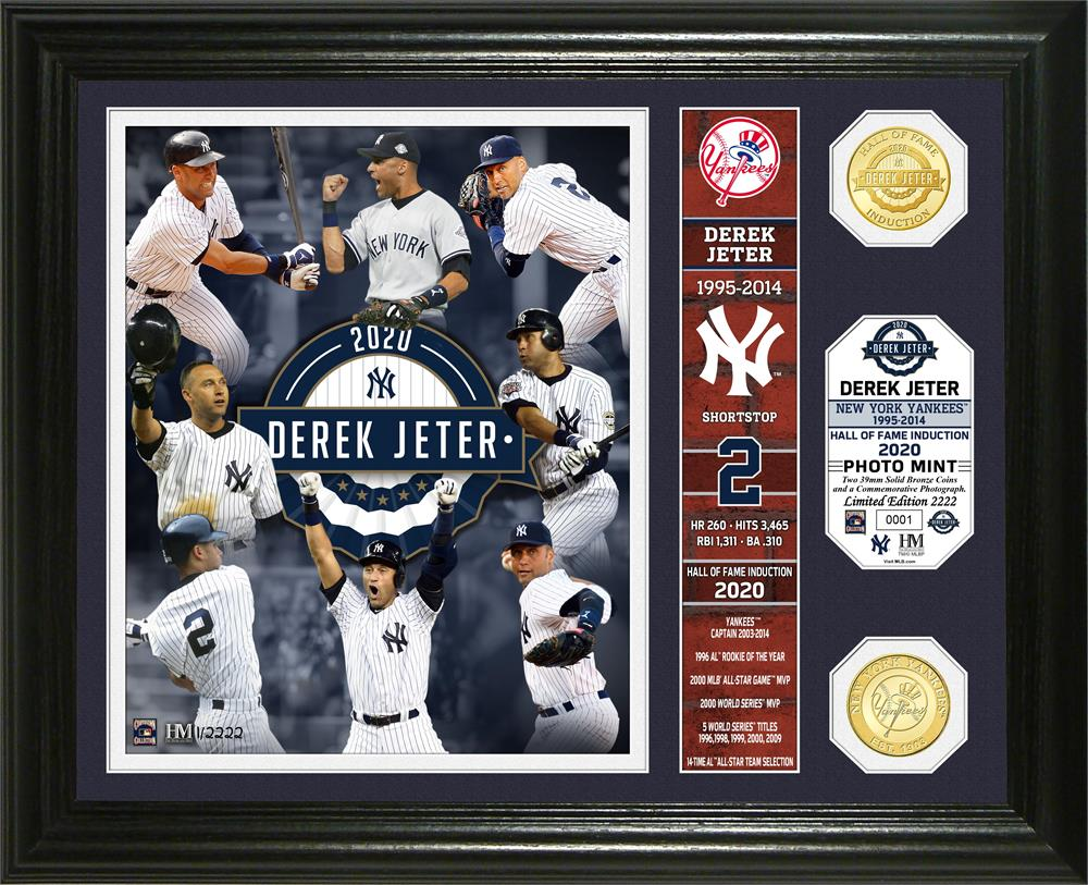 Derek Jeter New York Yankees 2020 HOF Induction Banner Bronze Coin Photo Mint