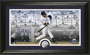 Derek Jeter New York Yankees 2020 HOF Induction Timeline Silver Coin Photo Mint