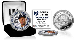 Derek Jeter New York Yankees 2020 HOF Color Silver Coin