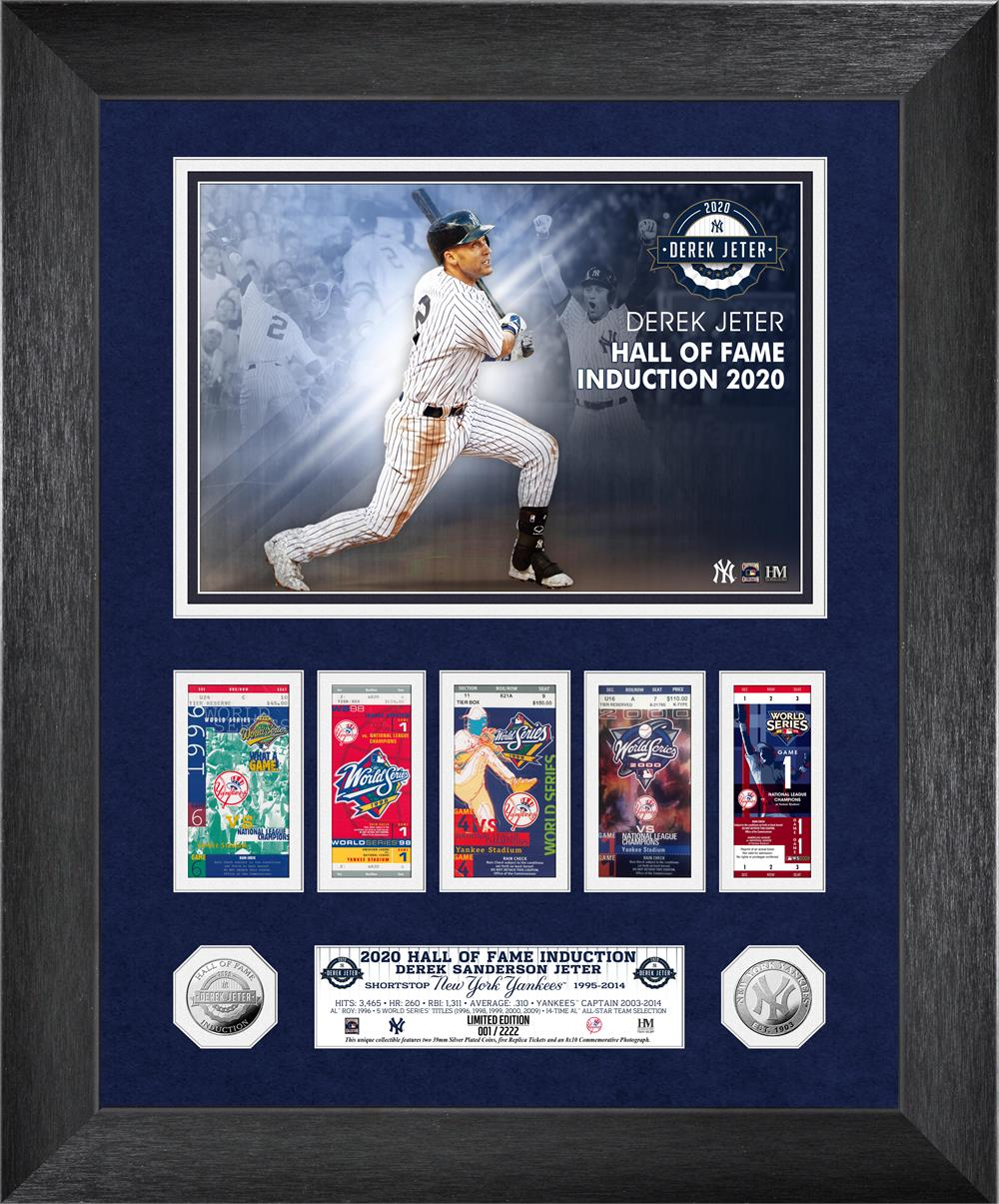 Derek Jeter 2020 HOF Induction WS Marquee Silver Coin Photo Mint