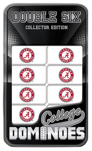 alabama crimson tide football dominoes