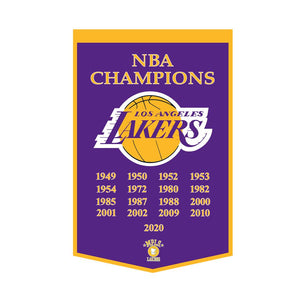 "Los Angeles Lakers Dynasty Wool Banner - 24""x36"""