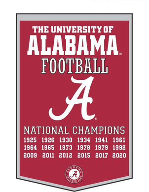 Alabama Crimson Tide Dynasty Wool Banner - 24