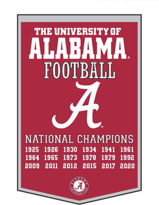 "Alabama Crimson Tide Dynasty Wool Banner - 24""x36"""