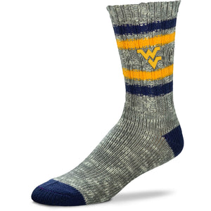 West Virginia Mountaineers Alpine Tweed Crew Socks - Medium