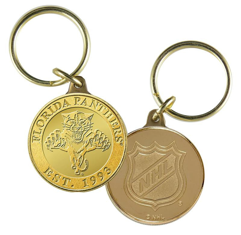 Florida Panthers Bronze Team Keychain