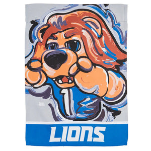 Detroit Lions Mascot House Flag