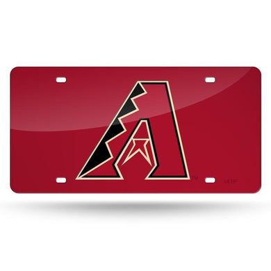 Arizona Diamondbacks Red Chrome Laser Tag License Plate