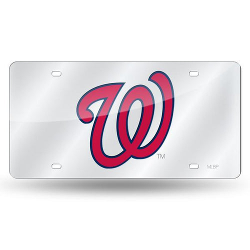 Washington Nationals Chrome Laser Tag License Plate
