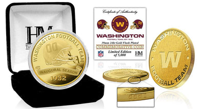 Washington Football Team Inaugural Season Gold Mint Coin