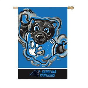 Carolina Panthers Mascot House Flag