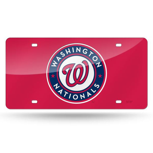 Washington Nationals Red Chrome Laser Tag License Plate