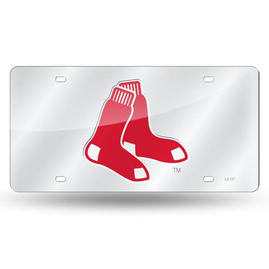 Boston Red Sox Chrome Laser Tag License Plate