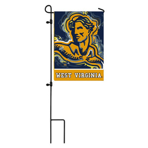 West Virginia Mountaineers Justin Pattern 2 Sided Garden Flag