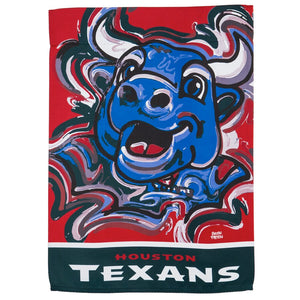 Houston Texans Mascot House Flag