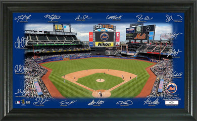 New York Mets Signature Field Limited Edition Frame