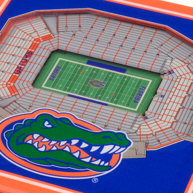 Florida Gators 3D StadiumViews Coaster Set