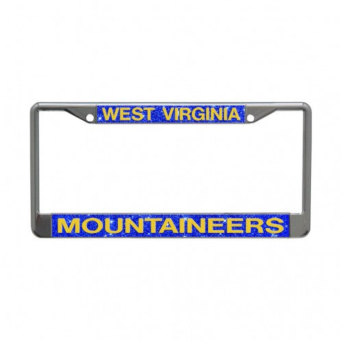 West Virginia Mountaineers Bling License Plate Frame