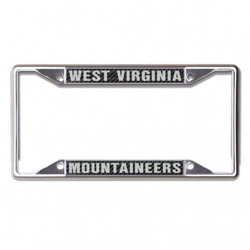 West Virginia Mountaineers Black Chrome License Plate Frame