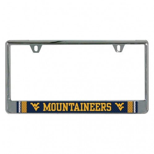 West Virginia Mountaineers Jersey License Plate Frame