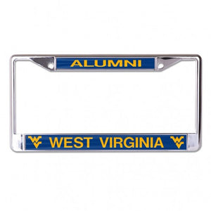 West Virginia Mountaineers Alumni Chrome License Plate Frame