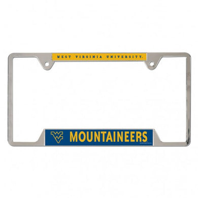 West Virginia Mountaineers Metal License Plate Frame