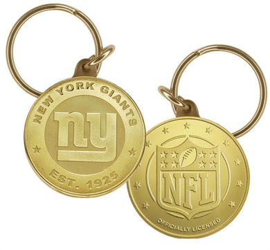 New York Giants Bronze Keychain