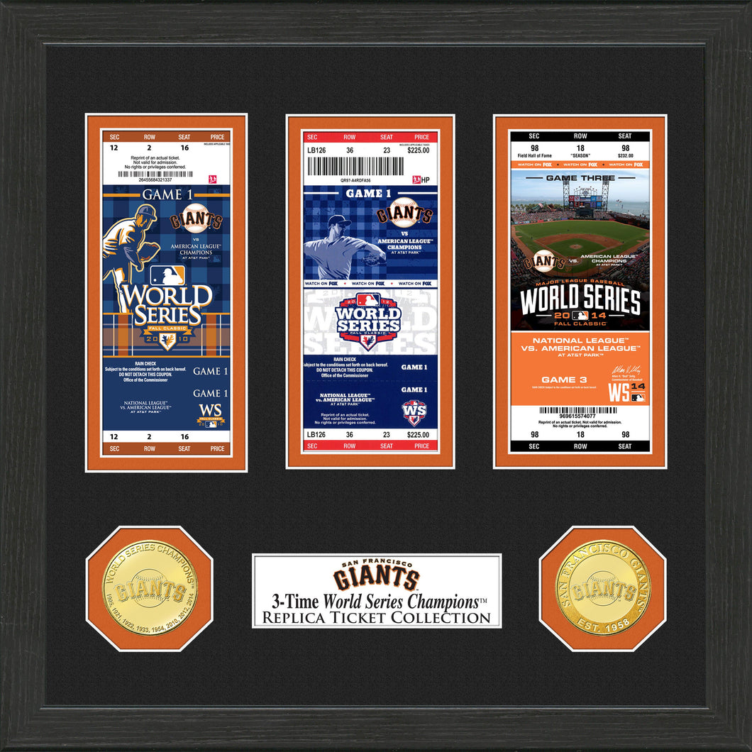 San Francisco Giants World Series Ticket Collection