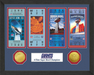 New York Giants Super Bowl Championship Ticket Collection
