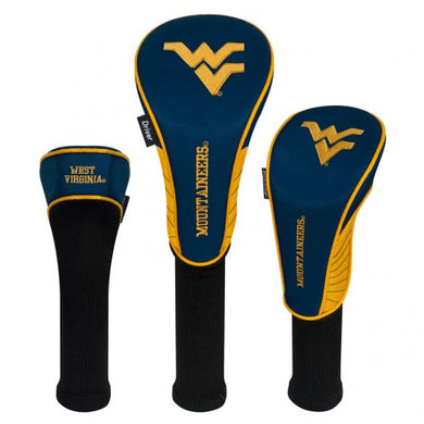 West Virginia Mountaineers 3-Pack Golf Club Headcovers