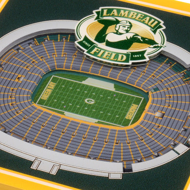 Green Bay Packers 3D StadiumViews Coaster Set
