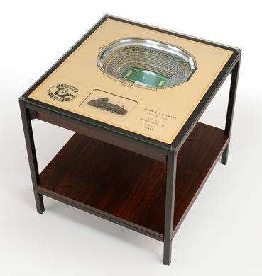 Green Bay Packers 25 Layer Lighted StadiumView End Table