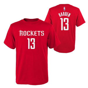 James Harden Houston Rockets #13 Red Youth Player Name & Number Shirt