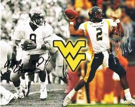 Major Harris & Rasheed Marshall West Virginia Mountaineers Dual Signed 8x10 Photo